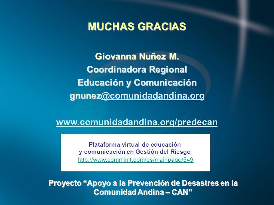 MUCHAS GRACIAS Giovanna Nuñez M.