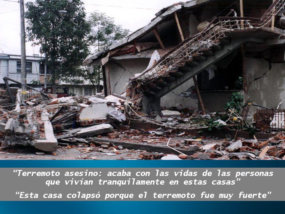 Terremoto asesino: acaba con las vidas de las personas que vivían tranquilamente en estas casas Esta casa colapsó porque el terremoto fue muy fuerte