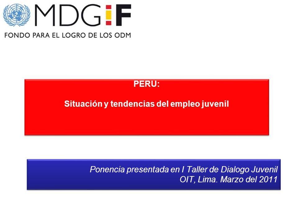 PERU: Situación y tendencias del empleo juvenil PERU: Situación y tendencias del empleo juvenil