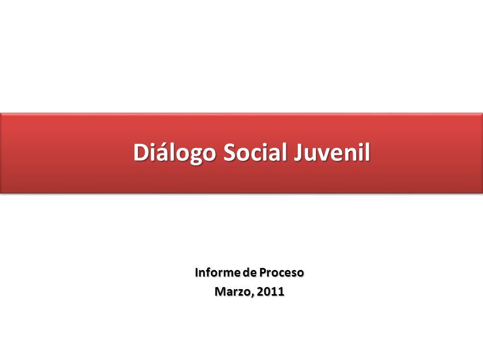 Diálogo Social Juvenil Informe de Proceso Marzo, 2011