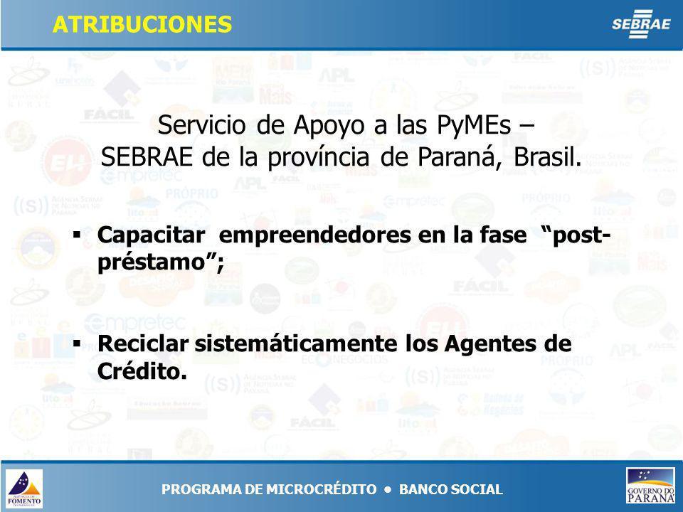 Servicio de Apoyo a las PyMEs – SEBRAE de la província de Paraná, Brasil.