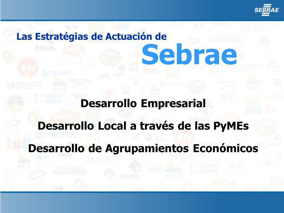 Sebrae Las Estratégias de Actuación de Desarrollo Empresarial Desarrollo Local a través de las PyMEs Desarrollo de Agrupamientos Económicos