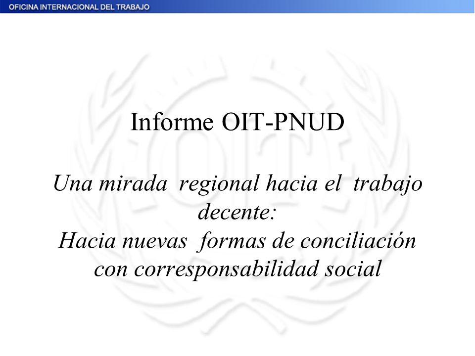 Informe OIT-PNUD Una mirada regional hacia el trabajo decente: Hacia nuevas formas de conciliación con corresponsabilidad social