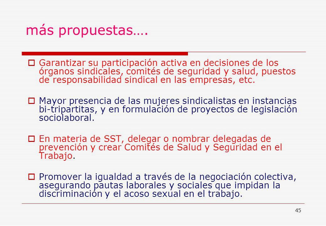 45 más propuestas….