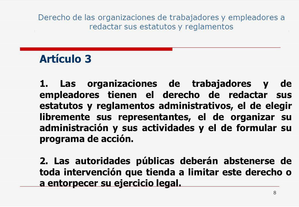 29 98 Artículo 6 El presente Convenio no trata de la situación de los funcionarios públicos en la administración del Estado y no deberá interpretarse, en modo alguno, en menoscabo de sus derechos o de su estatuto.