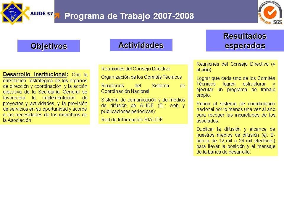 Desarrollo institucional: Con la orientación estratégica de los órganos de dirección y coordinación, y la acción ejecutiva de la Secretaría General se
