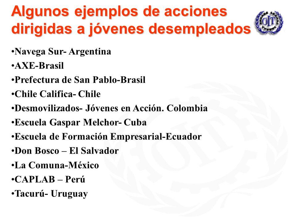 Navega Sur- Argentina AXE-Brasil Prefectura de San Pablo-Brasil Chile Califica- Chile Desmovilizados- Jóvenes en Acción.