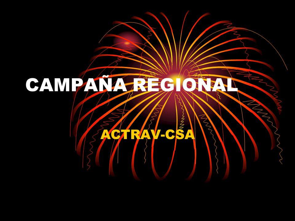 CAMPAÑA REGIONAL ACTRAV-CSA