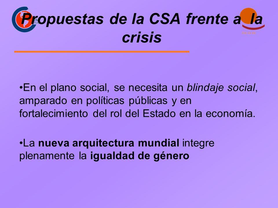 En el plano social, se necesita un blindaje social, amparado en políticas públicas y en fortalecimiento del rol del Estado en la economía.