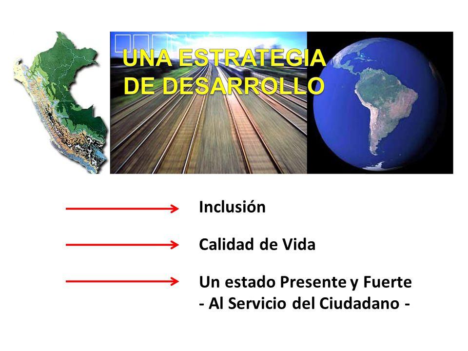 Inclusión Calidad de Vida Un estado Presente y Fuerte - Al Servicio del Ciudadano -