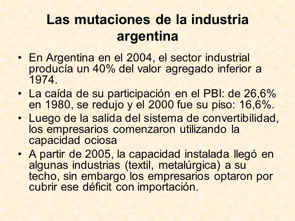 EVOLUCIÓN DEL SECTOR PRIMARIO ARGENTINO