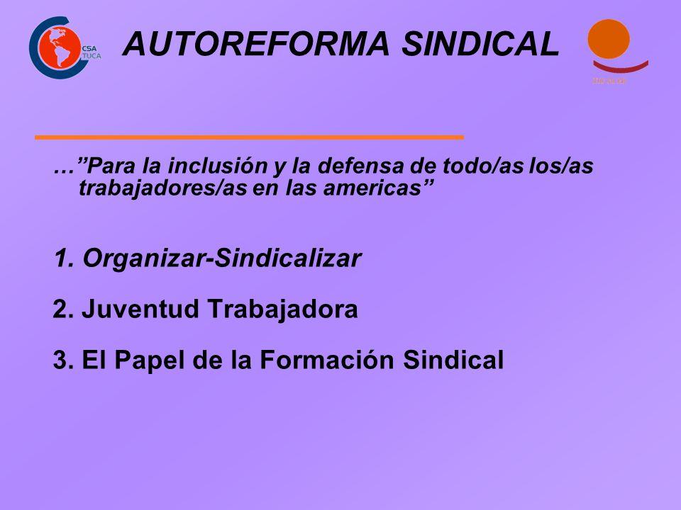 AUTOREFORMA SINDICAL …Para la inclusión y la defensa de todo/as los/as trabajadores/as en las americas 1. Organizar-Sindicalizar 2. Juventud Trabajado