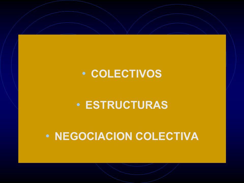 COLECTIVOS ESTRUCTURAS NEGOCIACION COLECTIVA