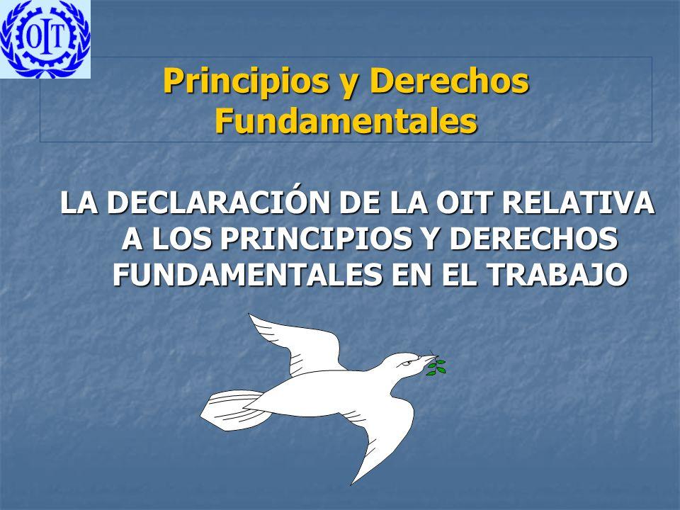 Principios y Derechos Fundamentales LA DECLARACIÓN DE LA OIT RELATIVA A LOS PRINCIPIOS Y DERECHOS FUNDAMENTALES EN EL TRABAJO
