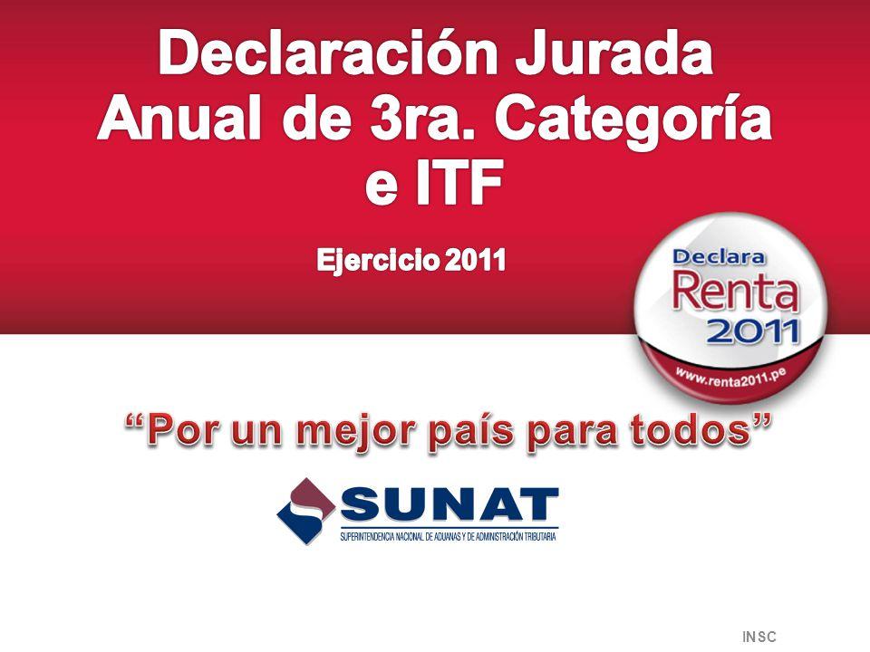 Agenda Disposiciones Declaración Anual 2011 Esquema General de la Determinación del Impuesto Principales Gastos Deducibles Gastos no Deducibles Sistema de Compensación de Pérdidas Novedades del PDT 670