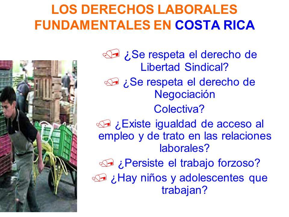 LOS DERECHOS LABORALES FUNDAMENTALES EN COSTA RICA ¿ Se respeta el derecho de Libertad Sindical? / ¿Se respeta el derecho de Negociación Colectiva? /