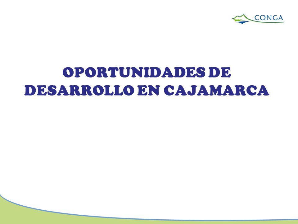 OPORTUNIDADES DE DESARROLLO EN CAJAMARCA