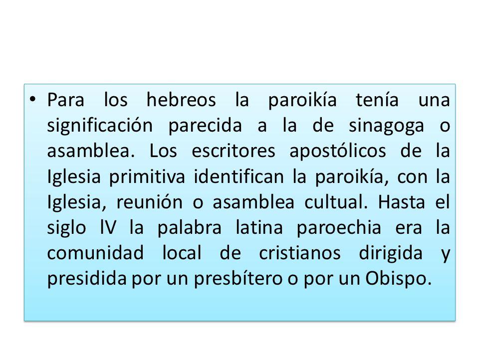 Descentralización pastoral y no de gobierno La constitución de parroquias NO es descentralización en el gobierno de la Iglesia particular.