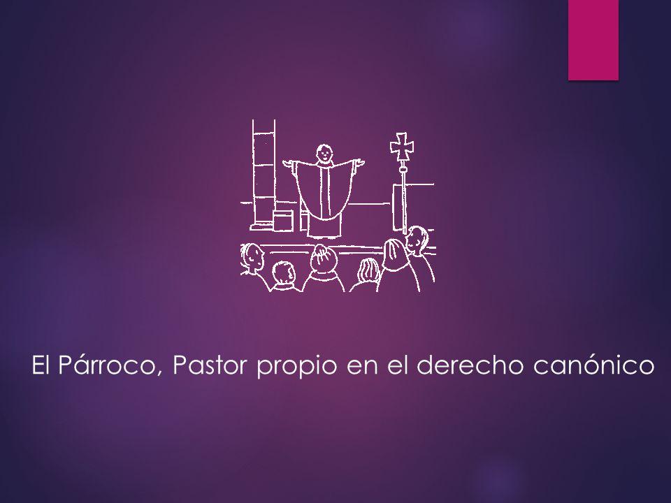 El Párroco, Pastor propio en el derecho canónico