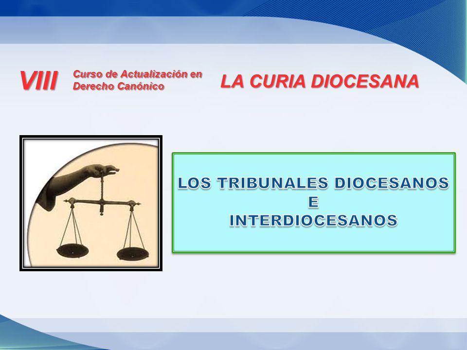 Tribunales ordinarios de primera instancia: a) Tribunales diocesanos.