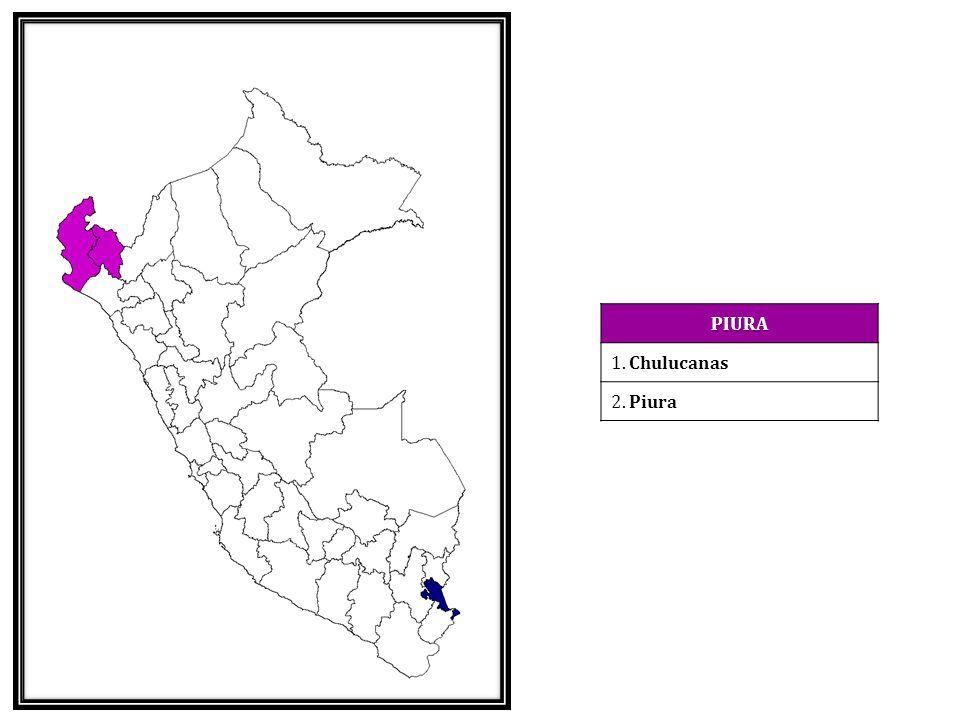 PIURA 1. Chulucanas 2. Piura