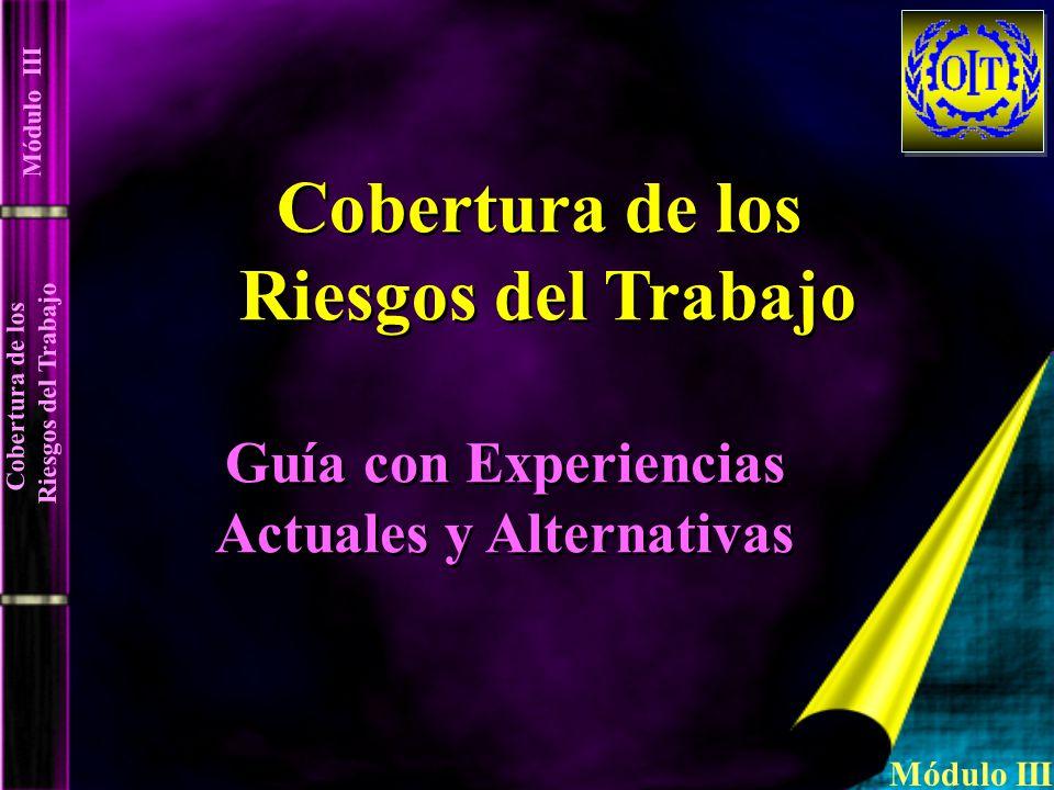 Guía con Experiencias Actuales y Alternativas Guía con Experiencias Actuales y Alternativas Cobertura de los Riesgos del Trabajo Cobertura de los Ries