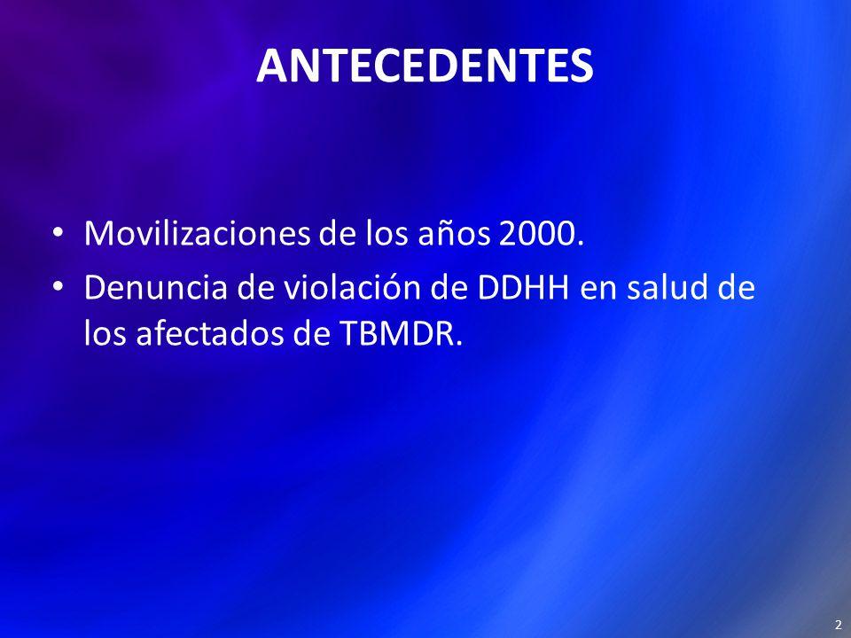 ANTECEDENTES Movilizaciones de los años 2000.