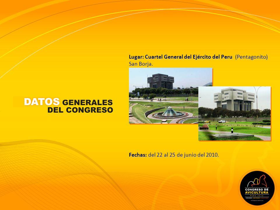Lugar: Cuartel General del Ejército del Peru (Pentagonito) San Borja.