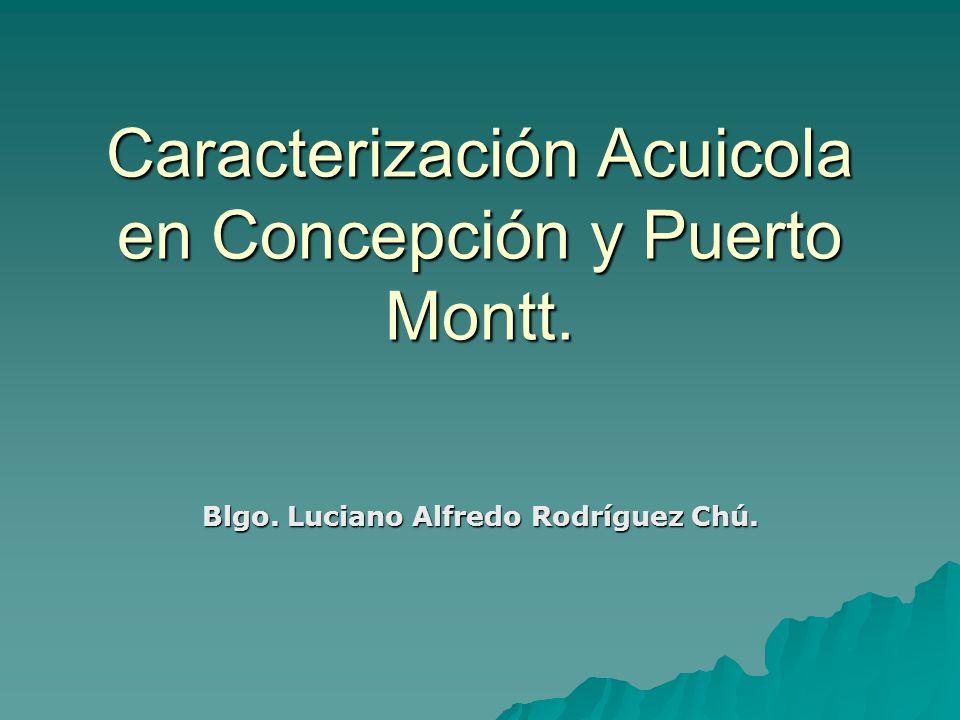Caracterización Acuicola en Concepción y Puerto Montt. Blgo. Luciano Alfredo Rodríguez Chú.