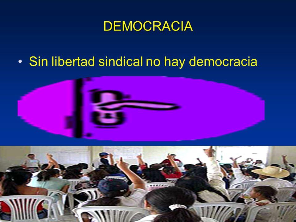 DEMOCRACIA Sin libertad sindical no hay democracia