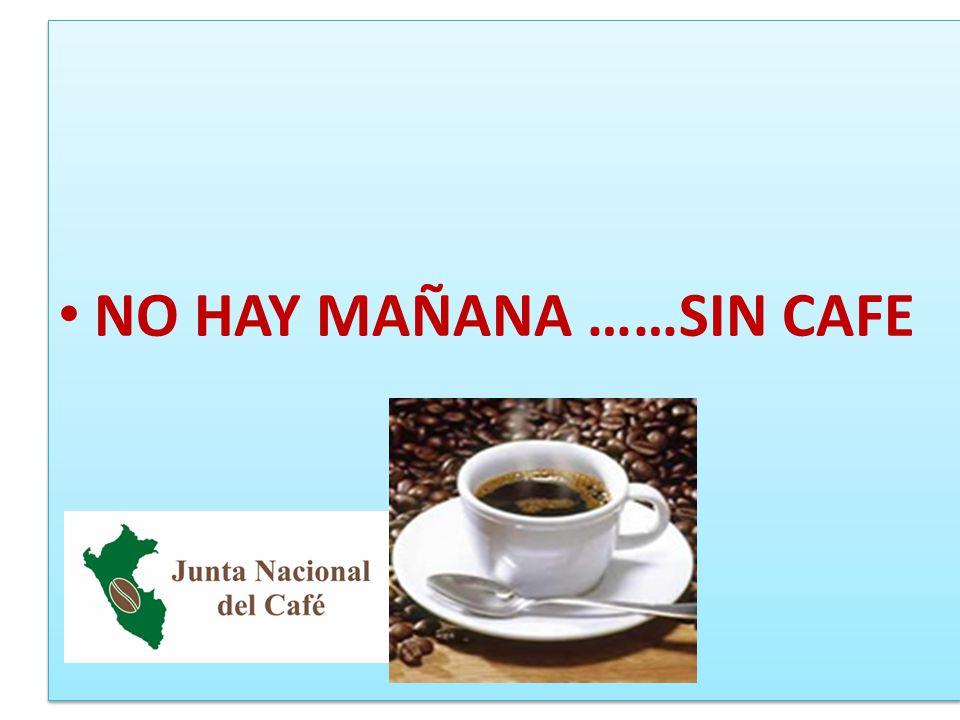 NO HAY MAÑANA ……SIN CAFE