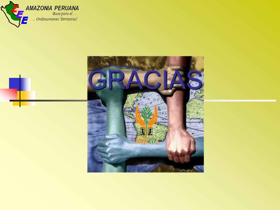 AMAZONIA PERUANA Base para el...... Ordenamiento Territorial GRACIAS