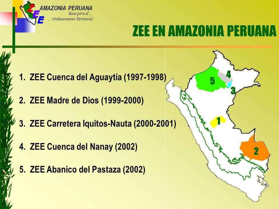 AMAZONIA PERUANA Base para el......Ordenamiento Territorial ZEE EN AMAZONIA PERUANA 1.