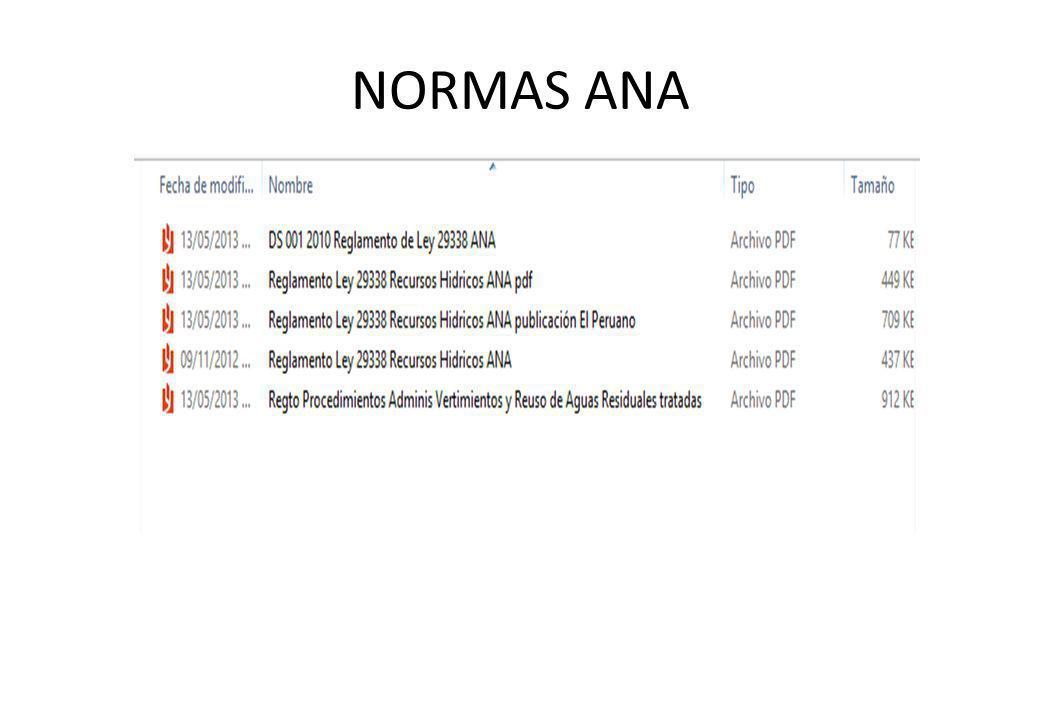 NORMAS ANA
