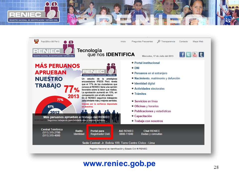 28 www.reniec.gob.pe