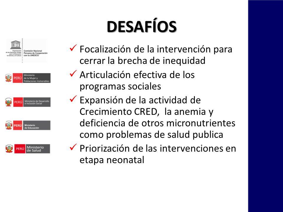 Focalización de la intervención para cerrar la brecha de inequidad Articulación efectiva de los programas sociales Expansión de la actividad de Crecim