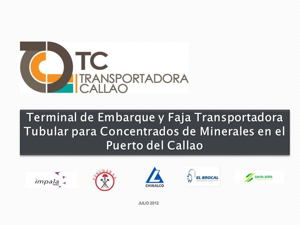 Terminal de Embarque y Faja Transportadora Tubular para Concentrados de Minerales en el Puerto del Callao JULIO 2012