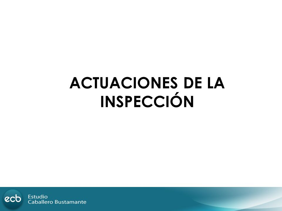 ACTUACIONES DE LA INSPECCIÓN