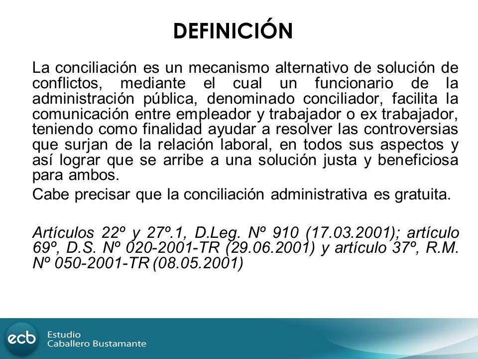 La conciliación es un mecanismo alternativo de solución de conflictos, mediante el cual un funcionario de la administración pública, denominado concil