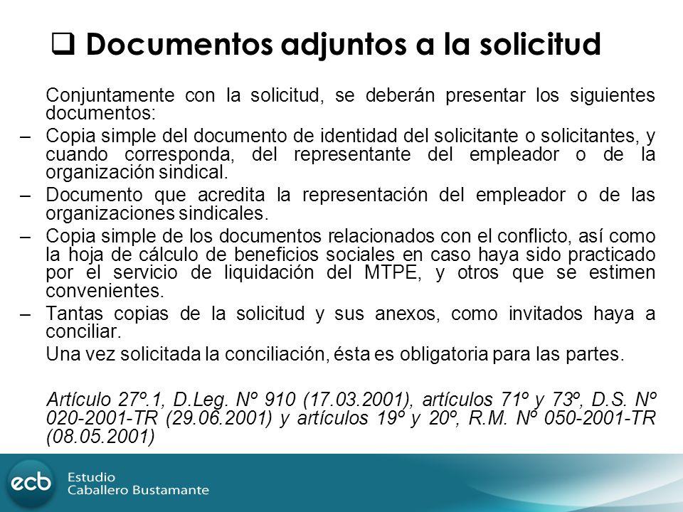 Conjuntamente con la solicitud, se deberán presentar los siguientes documentos: –Copia simple del documento de identidad del solicitante o solicitante