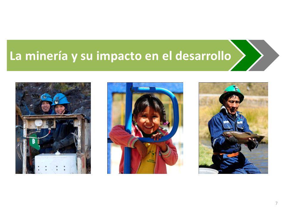 8 Minería en el Perú Ranking de producción 2011 MetalLatinoaméricaMundo Plata2 2 Zinc1 2 Estaño1 3 Mercurio2 4 Plomo1 4 Oro1 6 Cobre2 2 Fuente: USGS Fuente: Anuario 2011 - MEM