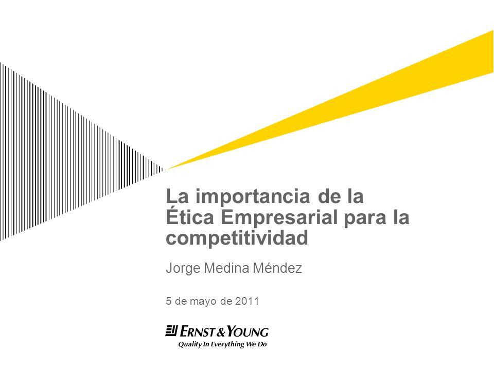 La importancia de la Ética Empresarial para la competitividad Jorge Medina Méndez 5 de mayo de 2011