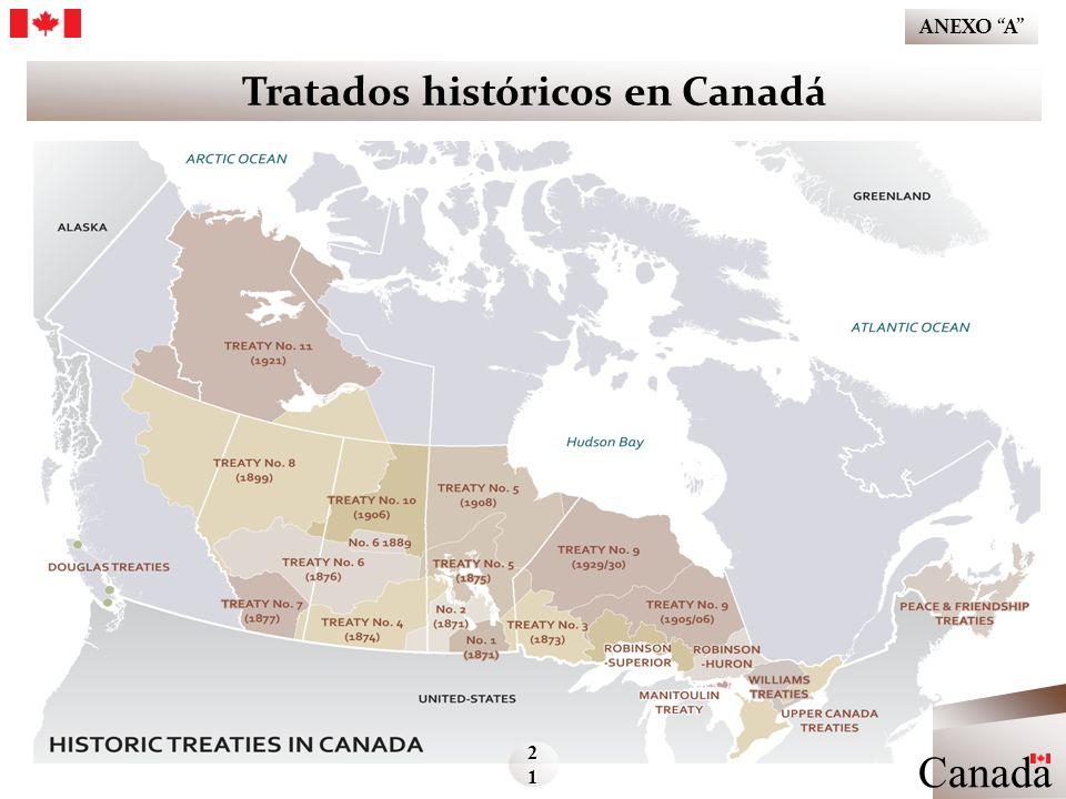 Tratados históricos en Canadá Canada 21212121 ANEXO A Ministerio de Asuntos Indígenas y del Norte de Canadá