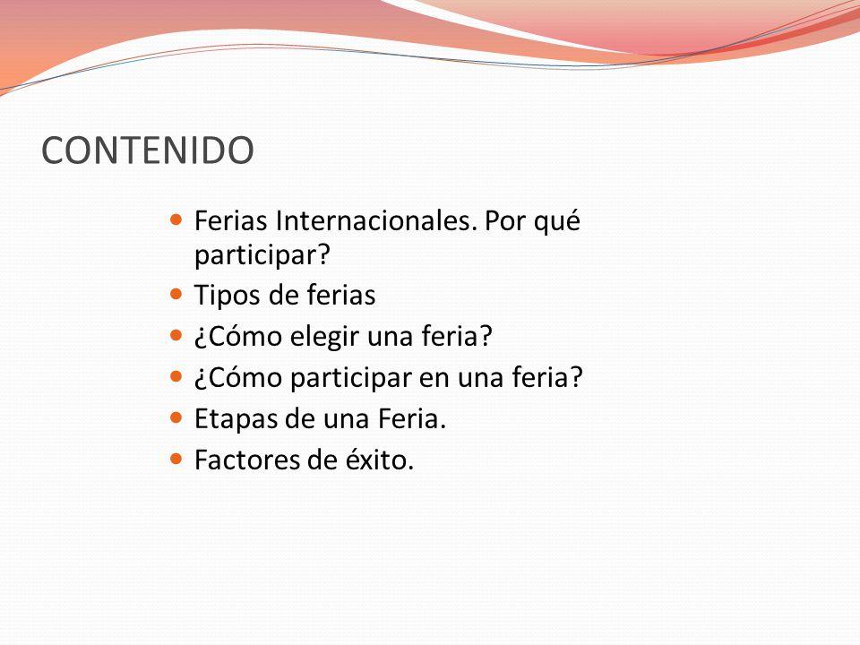 CONTENIDO Ferias Internacionales.Por qué participar.