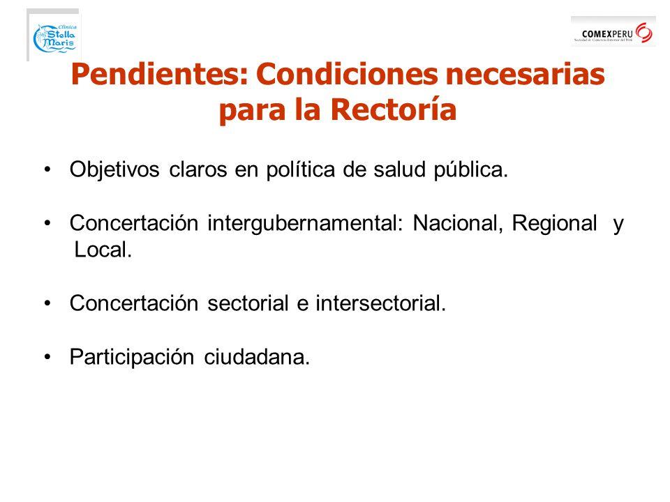 Objetivos claros en política de salud pública.