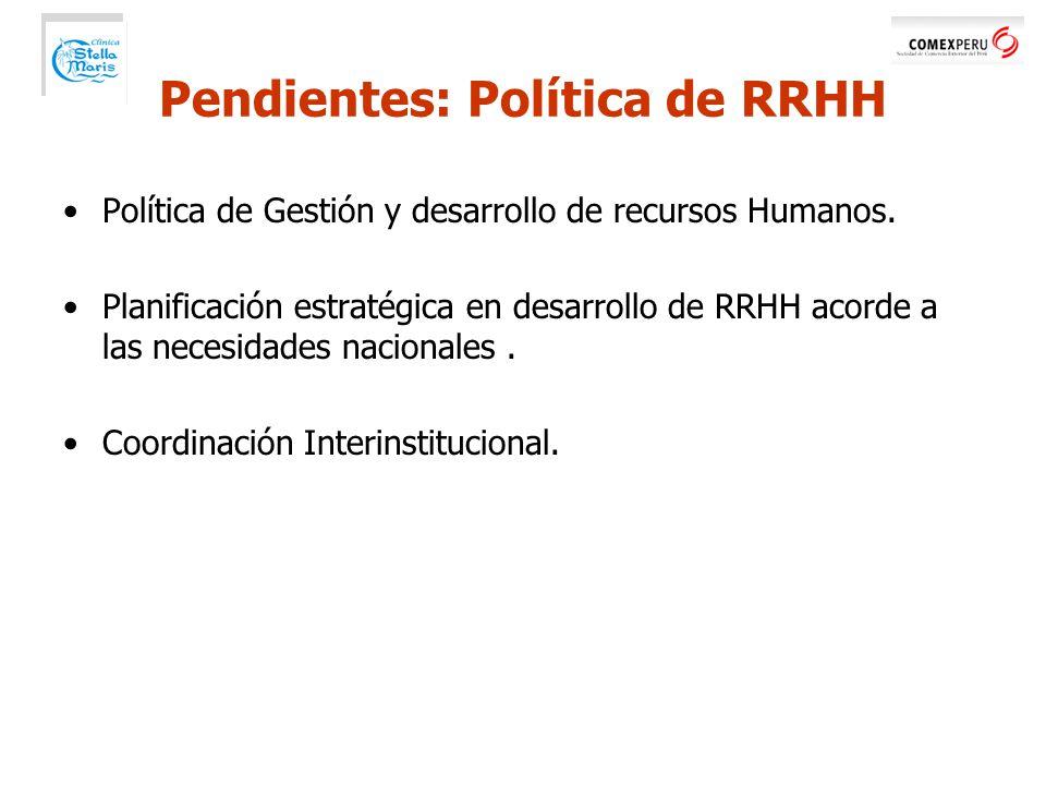 Política de Gestión y desarrollo de recursos Humanos.