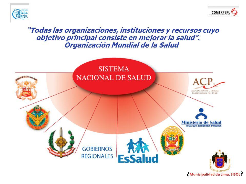 Todas las organizaciones, instituciones y recursos cuyo objetivo principal consiste en mejorar la salud.