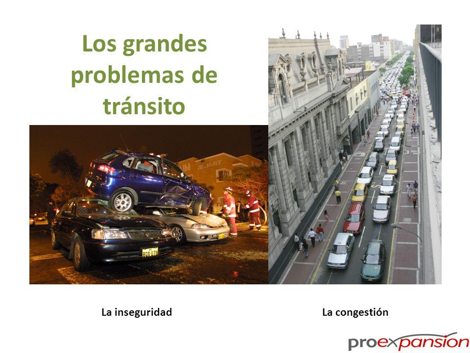 Los grandes problemas de tránsito La inseguridadLa congestión