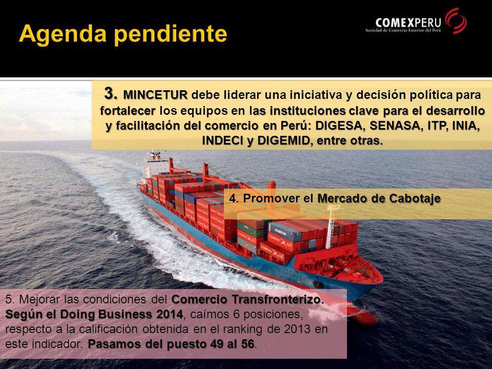 Mercado de Cabotaje 4. Promover el Mercado de Cabotaje 3.