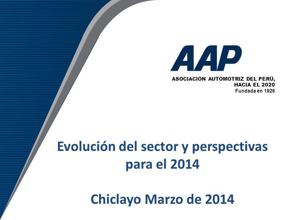 Evolución del sector y perspectivas para el 2014 Chiclayo Marzo de 2014 ASOCIACIÓN AUTOMOTRIZ DEL PERÚ, HACIA EL 2020 Fundada en 1926